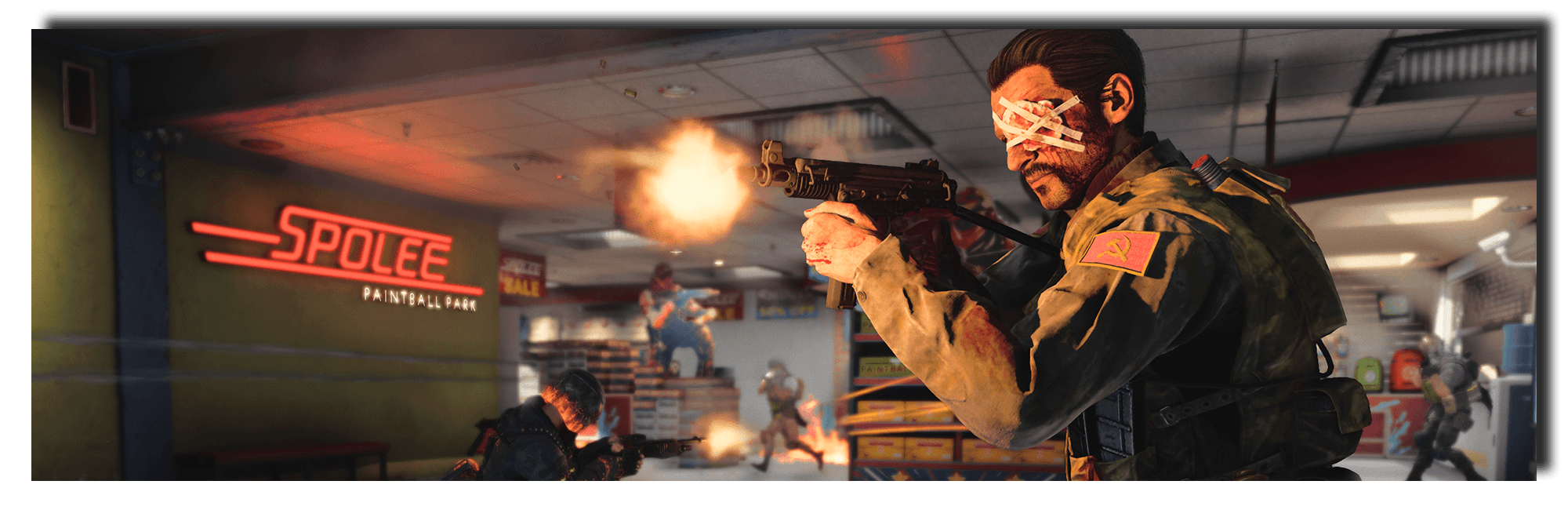 Banner image of the new OTs 9 submachine gun in action.