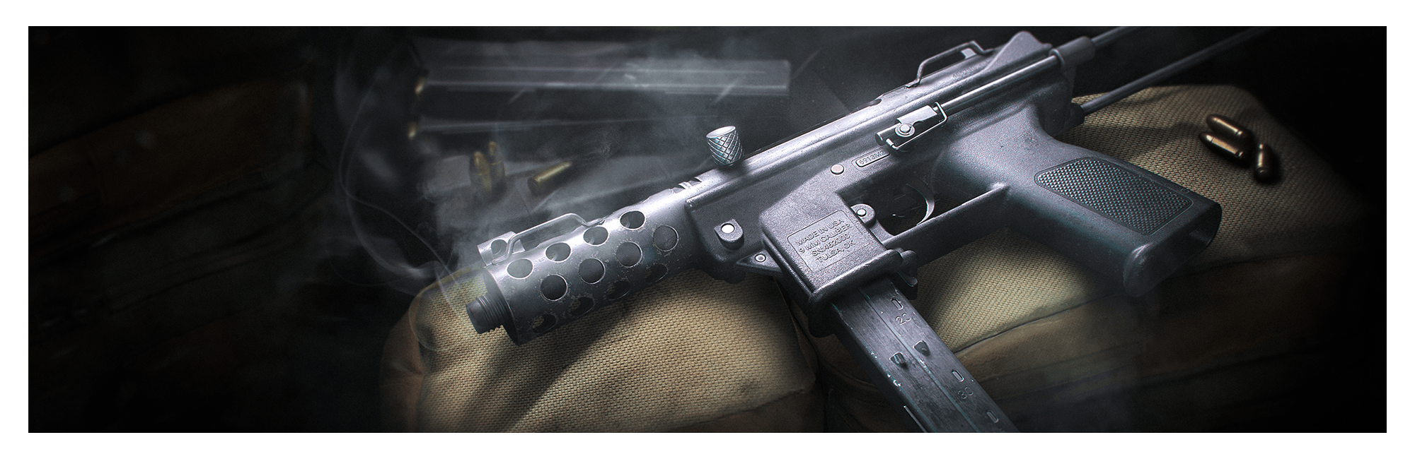 Banner image of the new TEC-9 submachine gun.