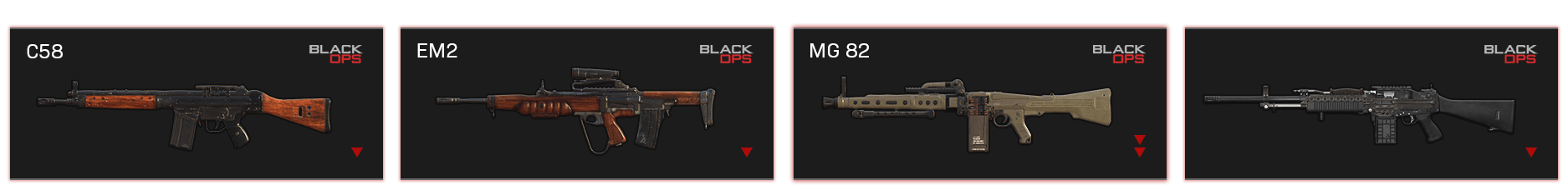 Image of the guns that were balanced this patch