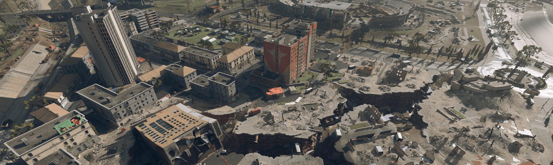 Seismic event rips hole through downtown Verdansk