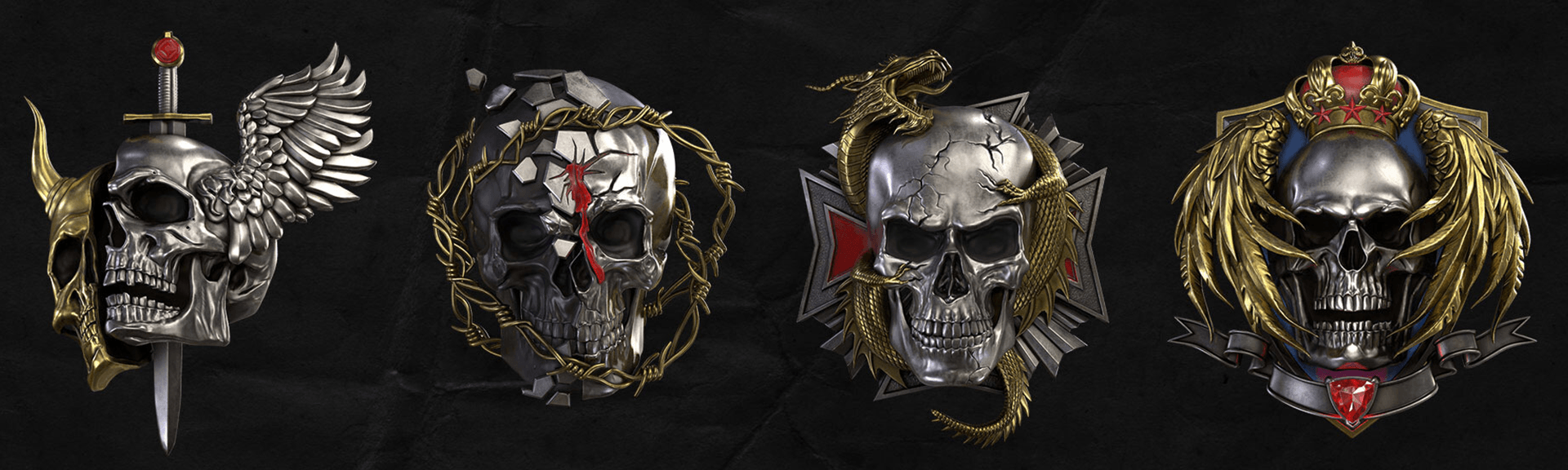 Image of the new Prestige Icons - a bunch of spooky heads